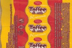 """Фантик конфеты Toffee De Luxe (""""Красный Октябрь"""", """"ТАКФ"""", Тамбов)"""