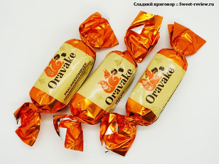 Конфеты Oravake (фабрика Kalev, Эстония)