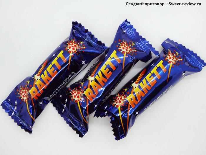 Конфеты Rakett (фабрика Kalev, Эстония)