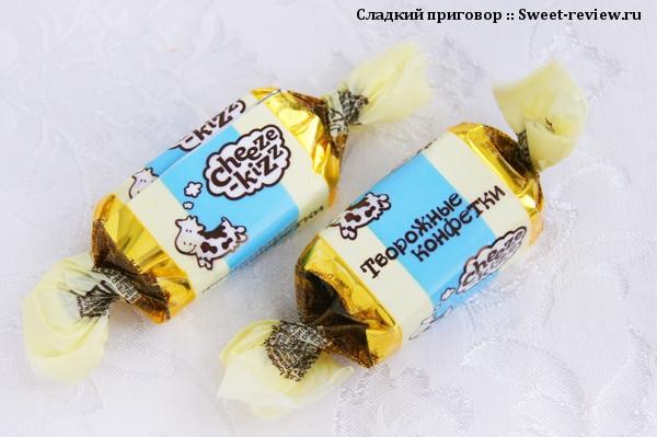 """Конфеты """"Cheeze-kizz творожные конфетки"""" (фабрика """"Сладуница"""", Омск)"""
