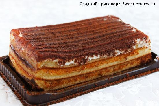 Торт бисквитный Baker House Тирамису (Раменский комбинат, Московская область)