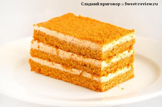 """Торт """"Медовик"""" (комбинат """"Черёмушки"""", Москва)"""